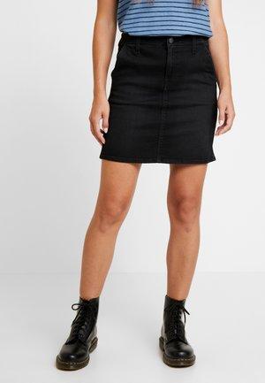 TAILORED SKIRT - Denim skirt - black tyro