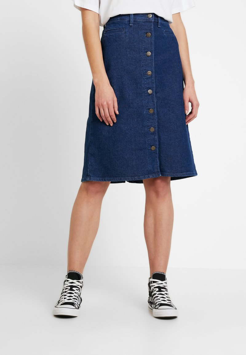 Lee - BUTTON THROUGH SKIRT - A-line skirt - dark wilma