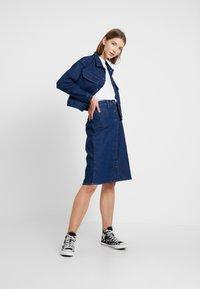 Lee - BUTTON THROUGH SKIRT - A-line skirt - dark wilma - 1