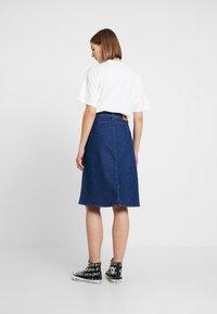 Lee - BUTTON THROUGH SKIRT - A-line skirt - dark wilma - 2