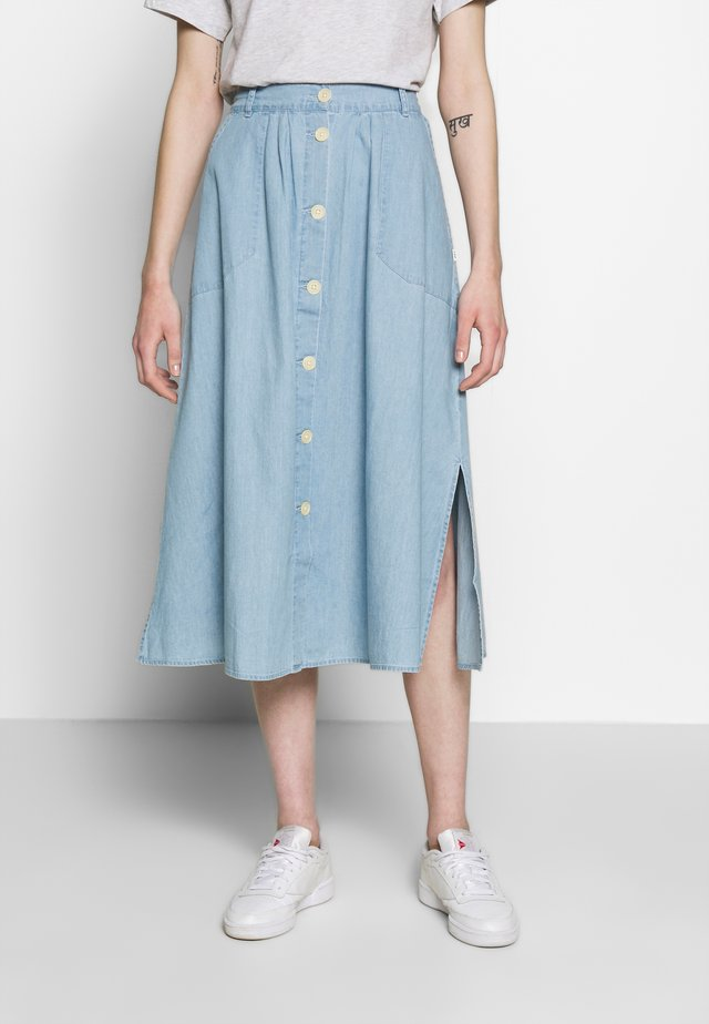 CHAMBRAY SKIRT - Spódnica trapezowa - summer blue