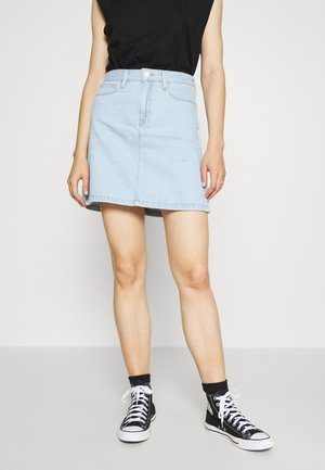 A LINE ZIP SKIRT - Denim skirt - bleached denim