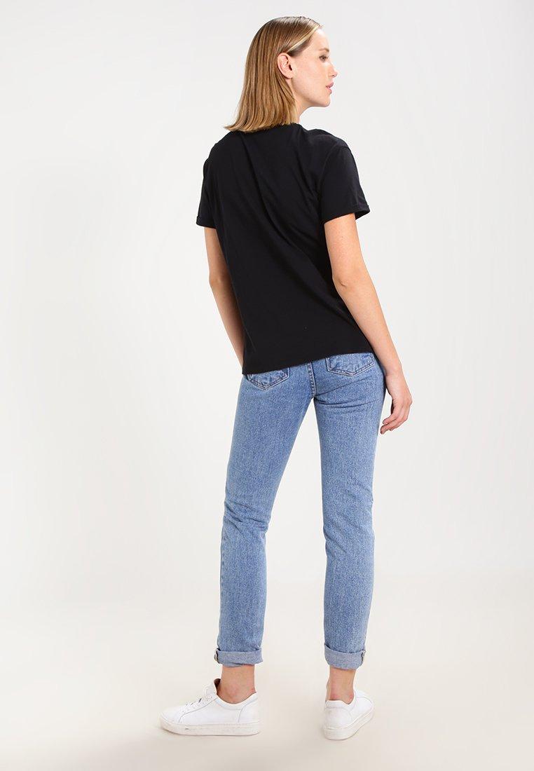 TeeT Logo Black shirt Imprimé Lee m80OnwvN