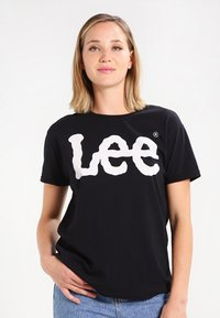 Lee - LOGO TEE - T-shirt z nadrukiem - black - 0
