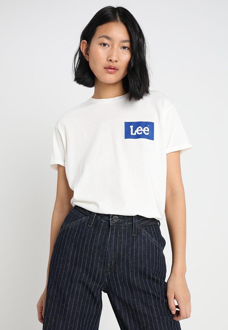 Lee - LOGO  - T-shirt con stampa - vanilla ice