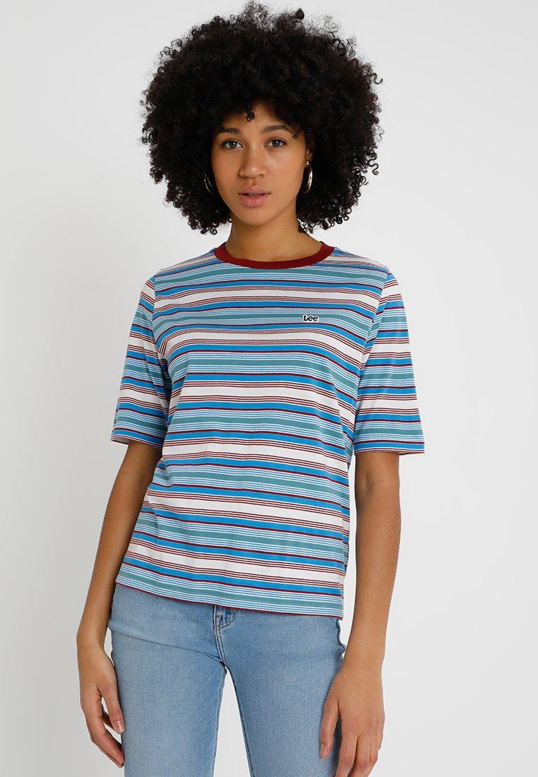Lee - MULTI STRIPED TEE - T-Shirt print - dipped blue