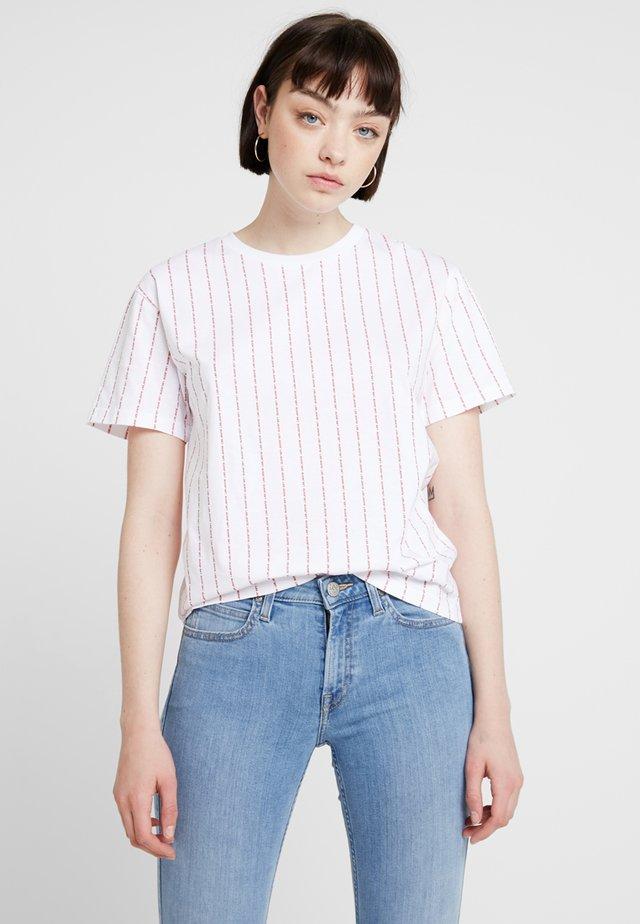 LOGO TEE - Printtipaita - bright white