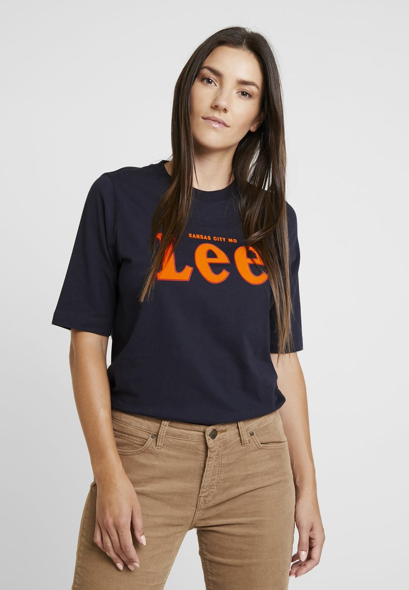 Lee - TEE - Print T-shirt - midnight navy