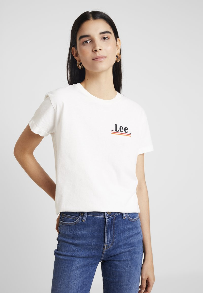 Lee - CHEST LOGO TEE - Print T-shirt - off white