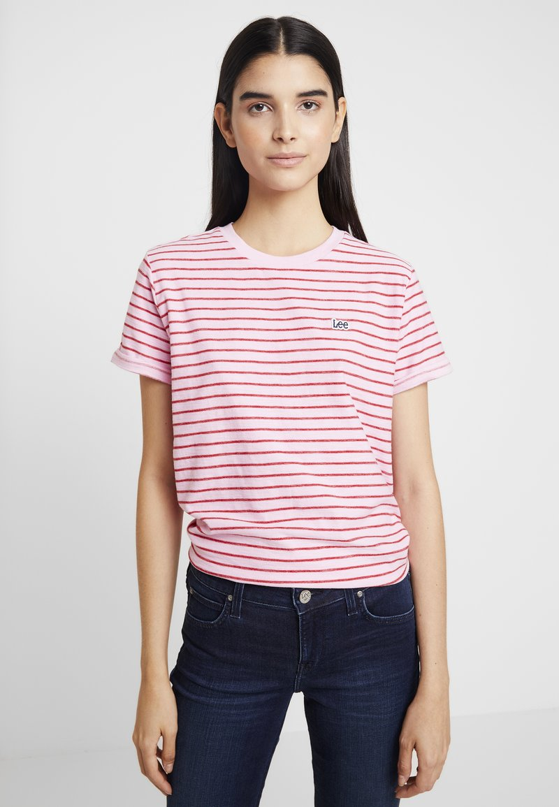 Lee - TEE - T-Shirt print - frost pink