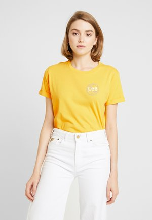 GLOBAL TEE - T-shirt con stampa - lemon zest