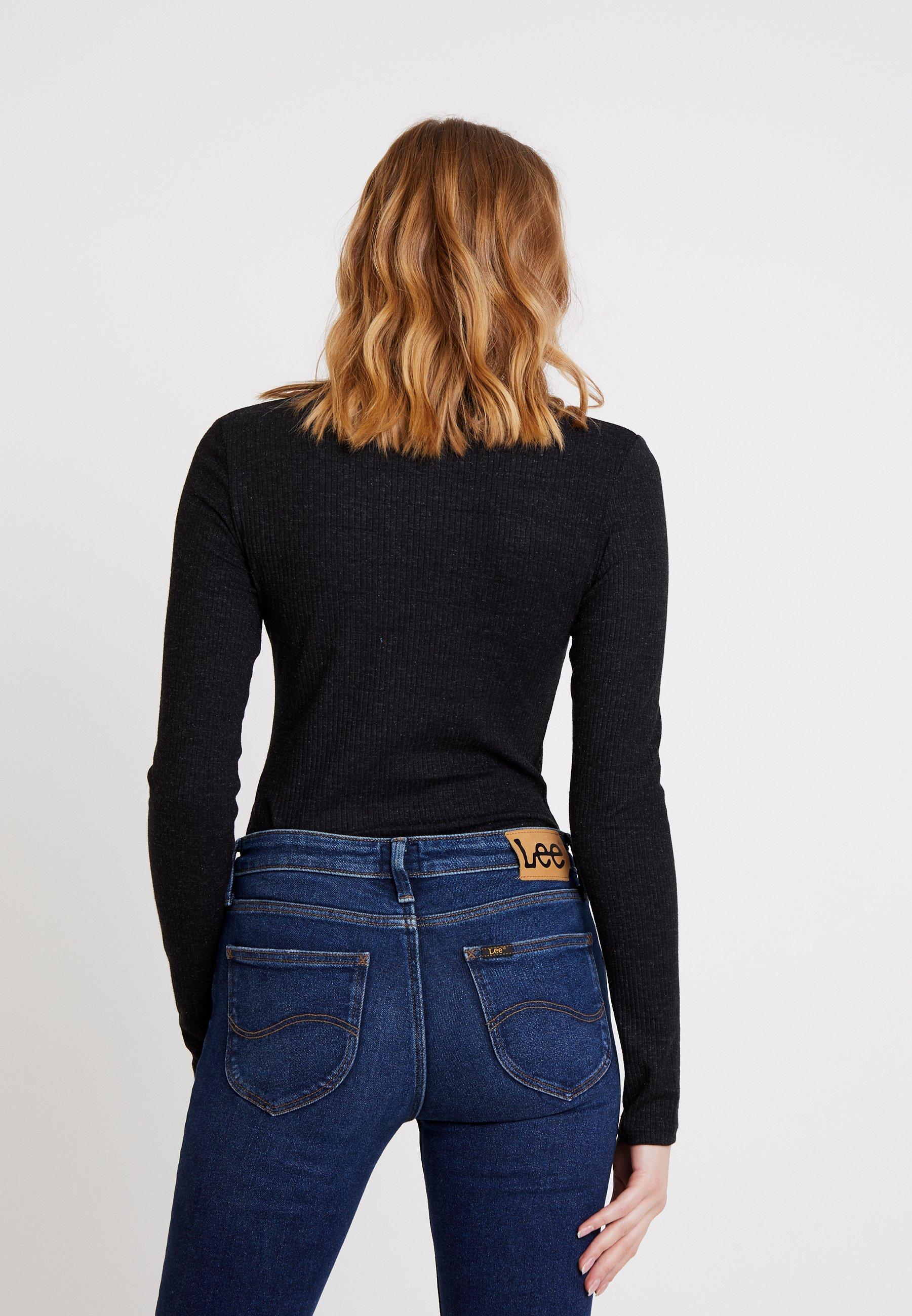 Lee V NECK OPTIX - T-shirt à manches longues black