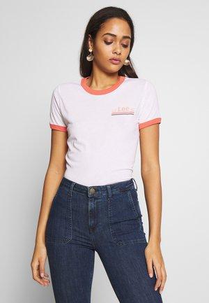 RINGER TEE - T-shirt z nadrukiem - bright white