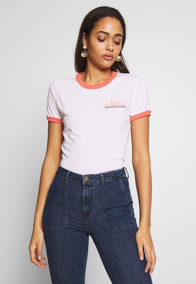 RINGER TEE - T-shirt print - bright white