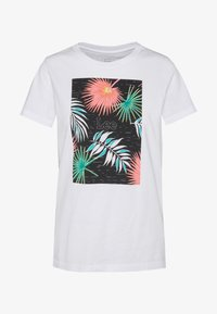 Lee - LEEGRAPHIC TEE - T-shirt con stampa - bright white - 4