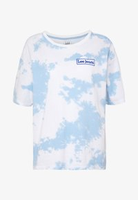 Lee - TIE DYE GRAPHIC TEE - T-shirt con stampa - sky blue - 4