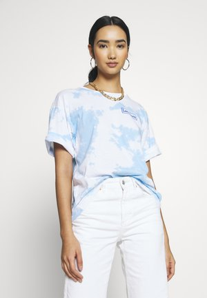 TIE DYE GRAPHIC TEE - T-shirt con stampa - sky blue