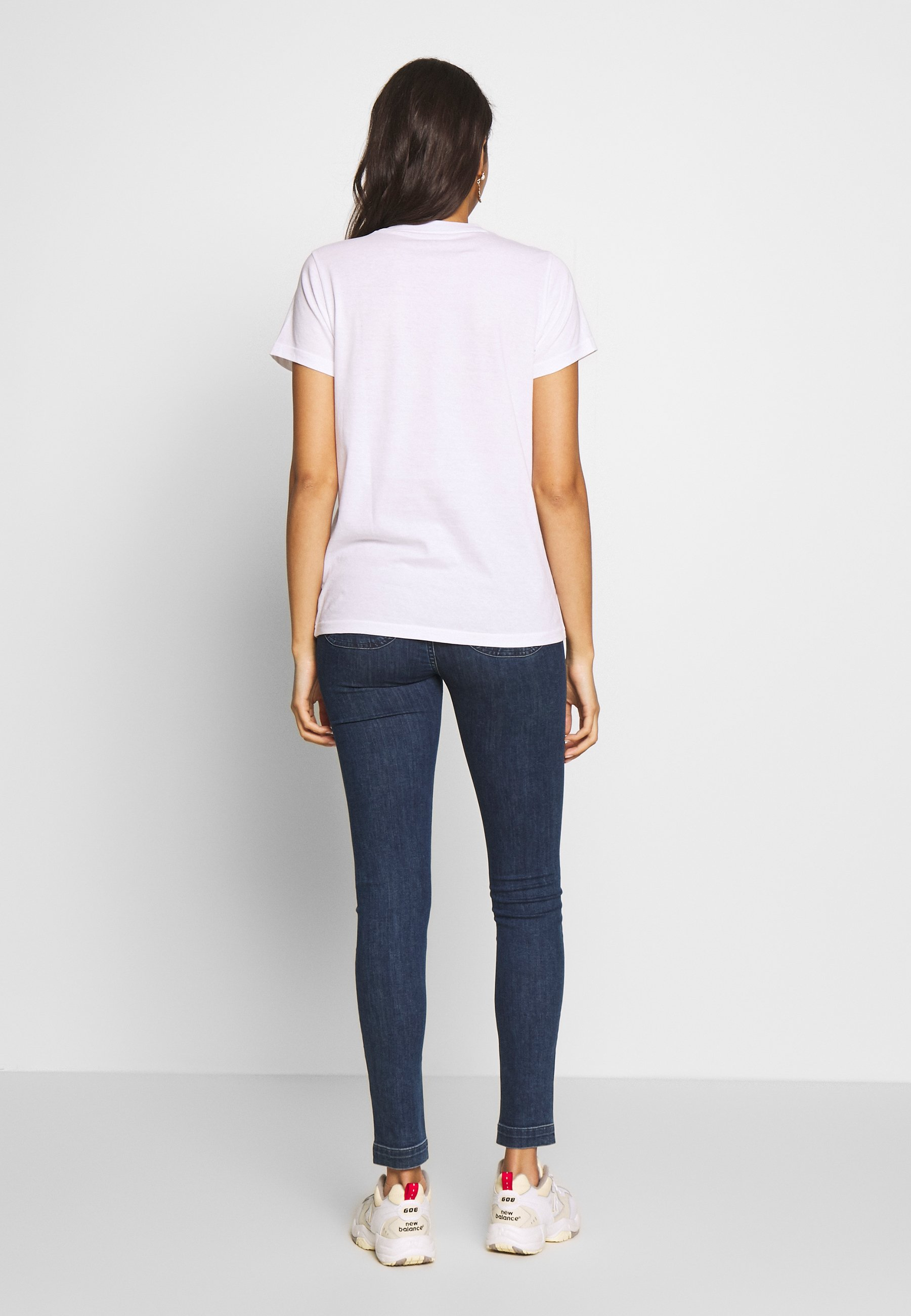 Lee CREW NECK - T-shirts med print - bright white