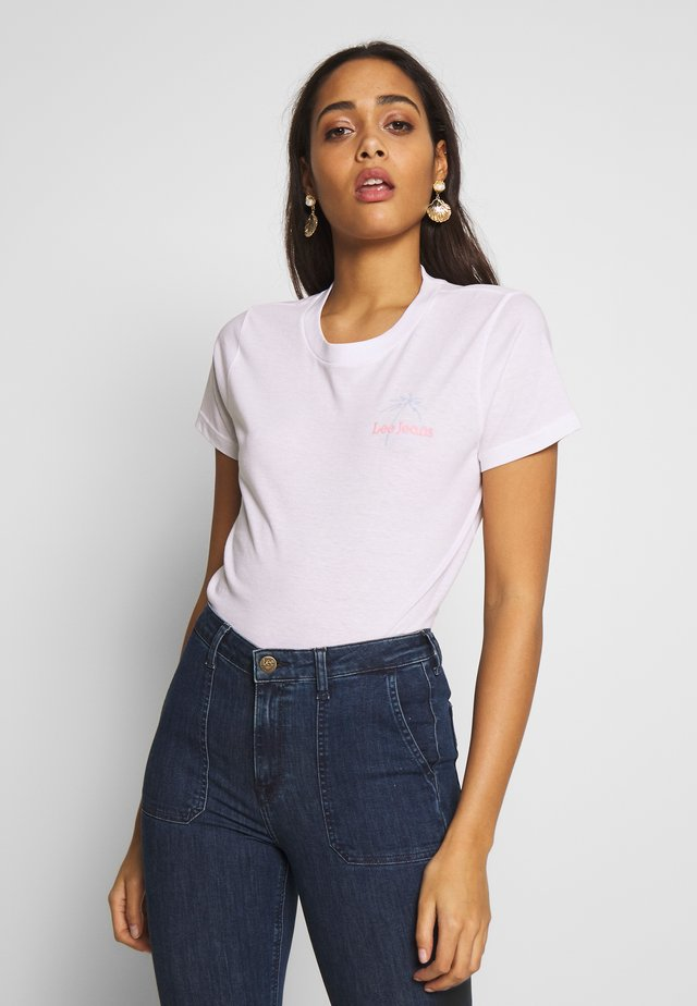 CREW NECK - T-shirt z nadrukiem - bright white