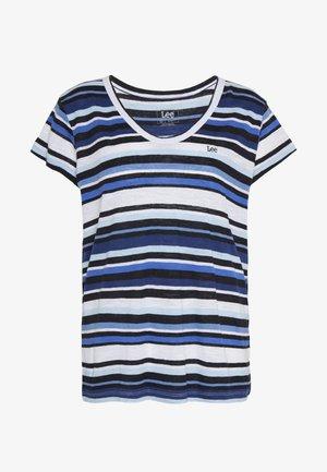 SCOOP NECK TEE - T-shirt imprimé - summer blue