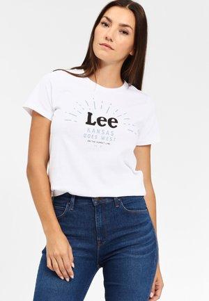 SEASONAL  - T-shirt z nadrukiem - white