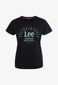 Lee - SEASONAL  - T-shirt z nadrukiem - black - 5