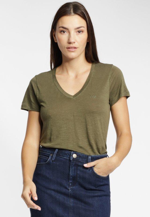 T-shirt basic - olive green