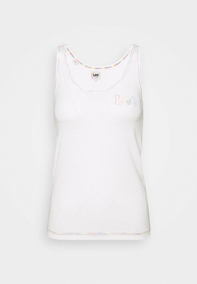 PRIDE TANK - T-shirt z nadrukiem - white