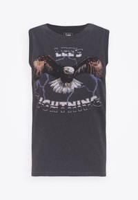 Lee - MUSCLE TEE - Top - washed black - 4