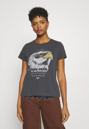 SUMMER TEE - T-shirt con stampa - washed black