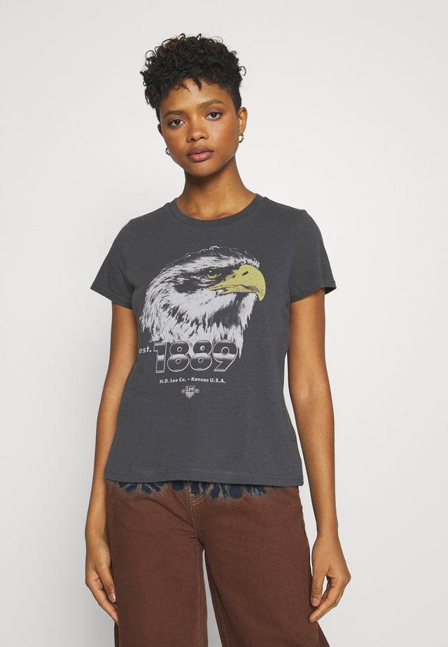 SUMMER TEE - T-Shirt print - washed black