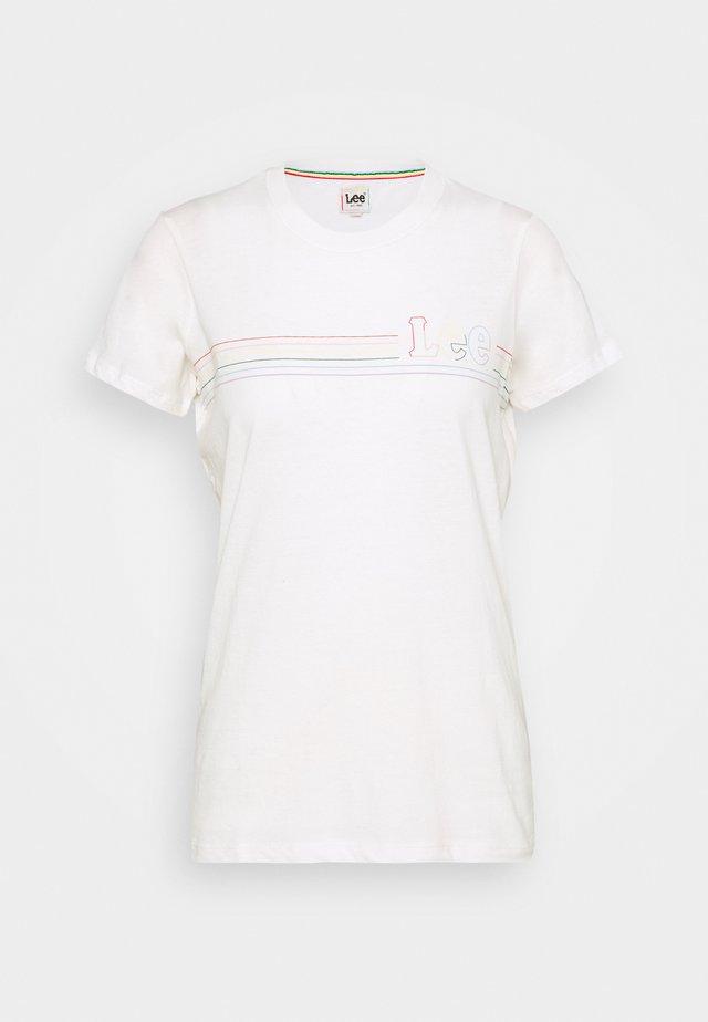 PRIDE TEE - T-shirt z nadrukiem - white