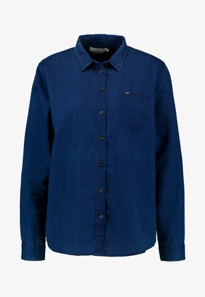 ONE POCKET - Camicia - oil blue