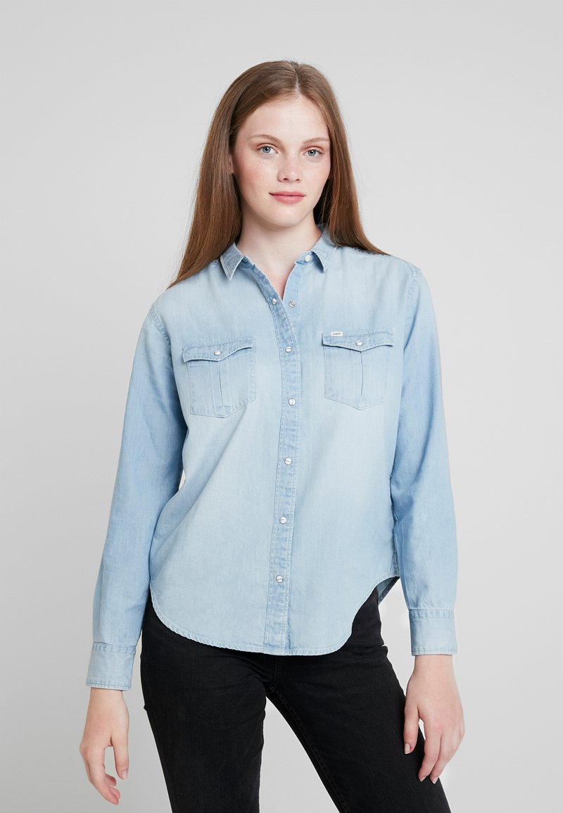 Lee - REGULAR WESTERN - Button-down blouse - heather blue