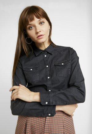 SLIM WESTERN - Chemisier - black