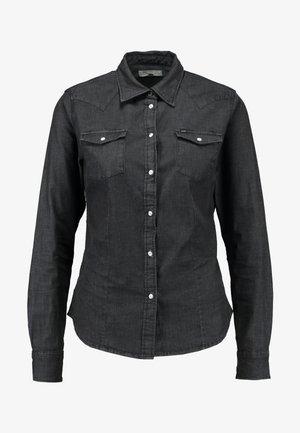 SLIM WESTERN - Camicia - black