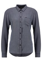 ONE POCKET - Button-down blouse - asphalt