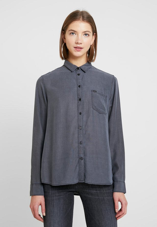 ONE POCKET - Button-down blouse - asphalt