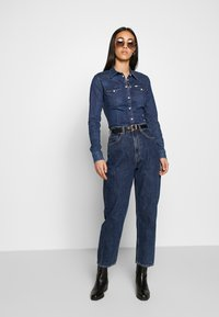 Lee - SLIM WESTERN - Overhemdblouse - washed blue - 1