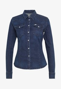 Lee - SLIM WESTERN - Overhemdblouse - washed blue - 3