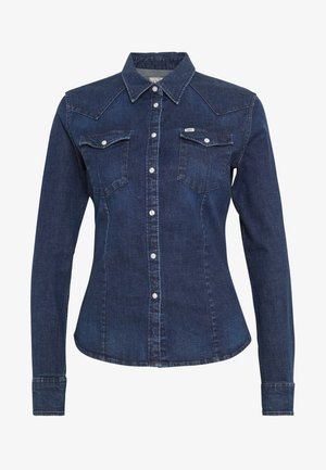 SLIM WESTERN - Chemisier - washed blue