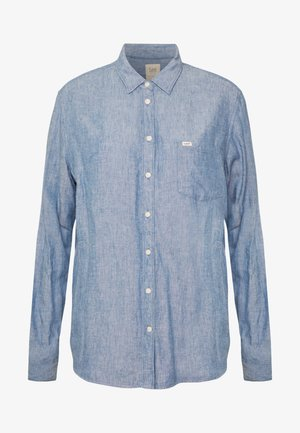 ONE POCKET - Button-down blouse - washed blue