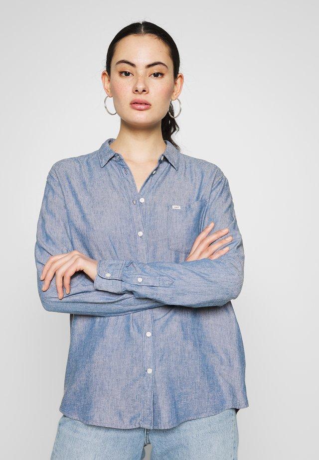 ONE POCKET - Hemdbluse - washed blue