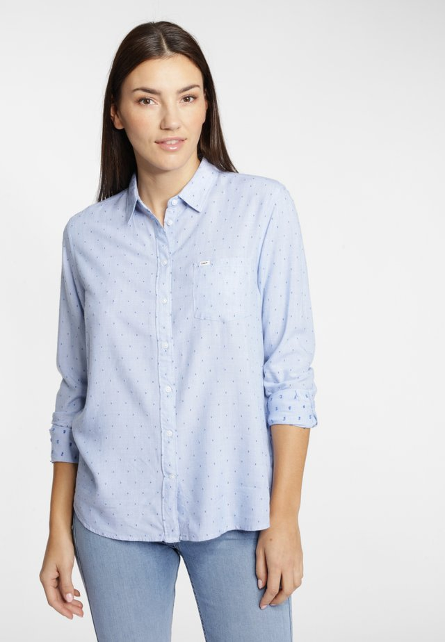Button-down blouse - dark-blue denim
