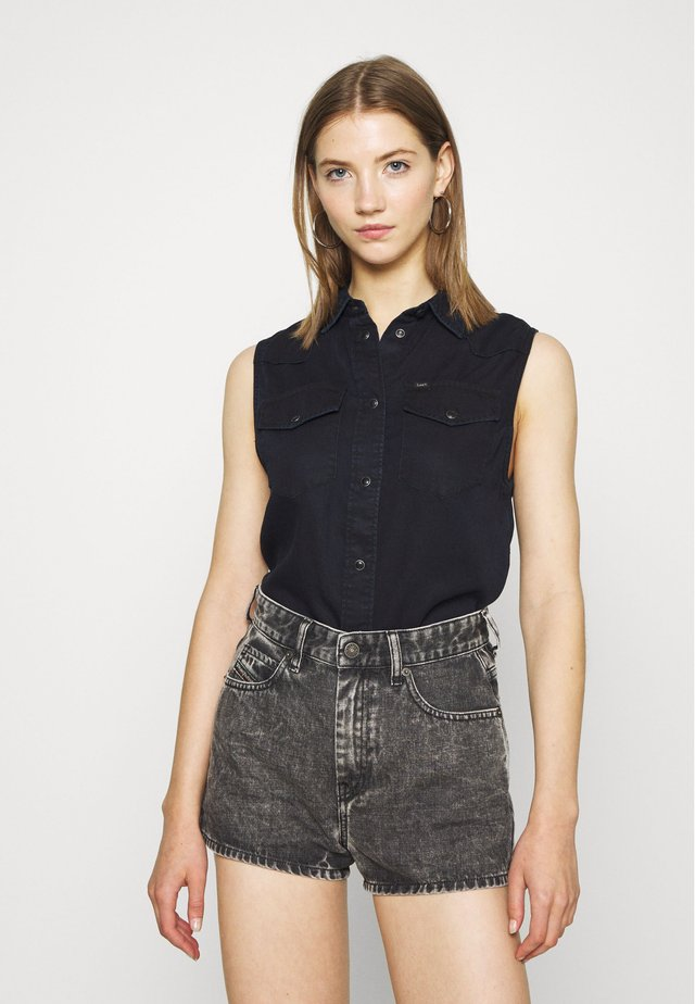 SLEEVELESS - Button-down blouse - sky captain