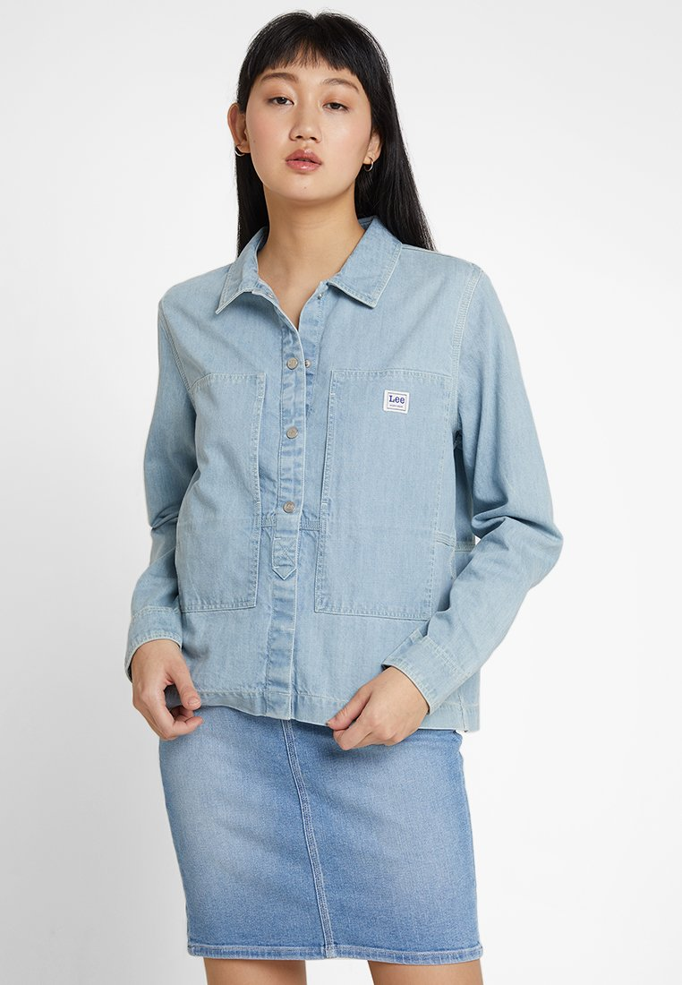 Lee - WORKWEAR OVERSHIRT - Button-down blouse - heather blue