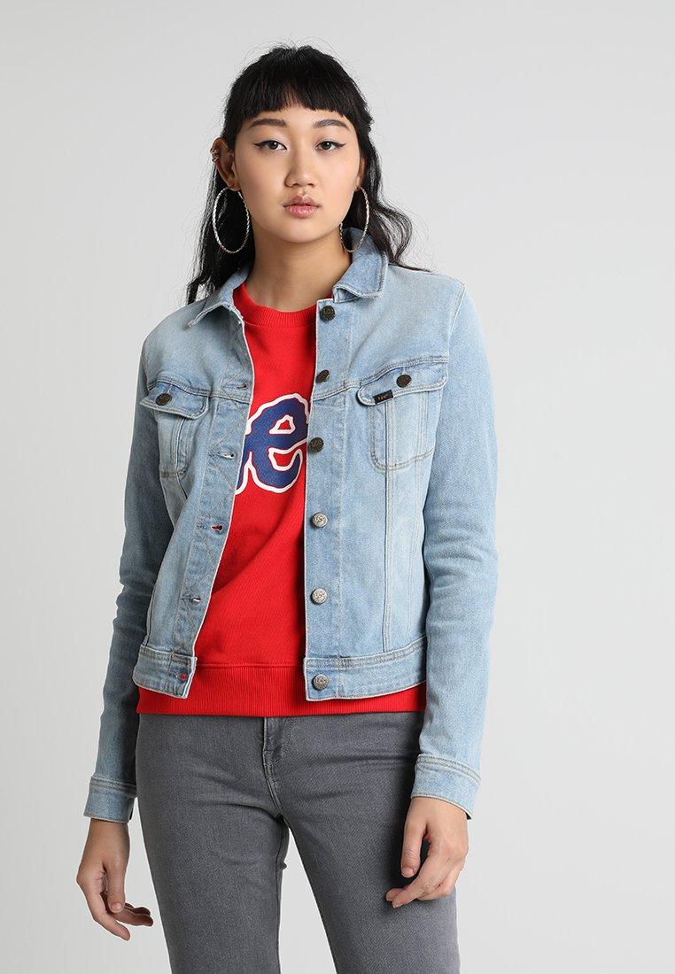 Lee - SLIM RIDER - Denim jacket - light-blue denim