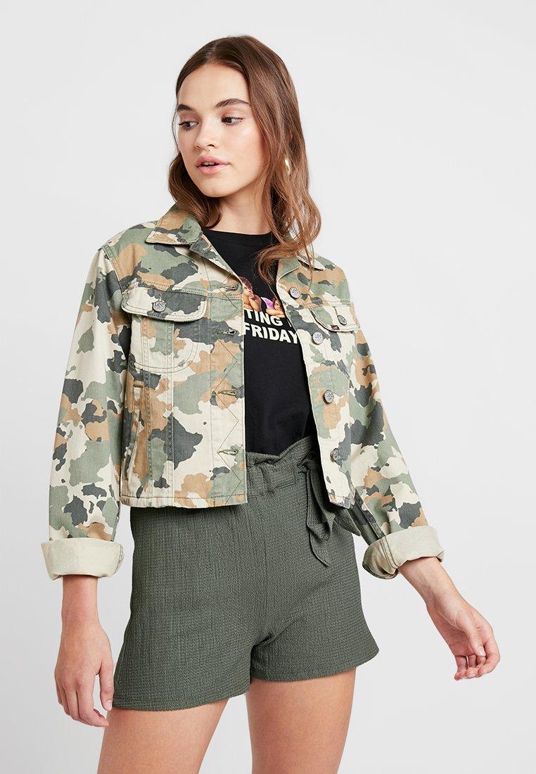 Lee - CROPPED RIDER JACKET - Denim jacket - green/beige