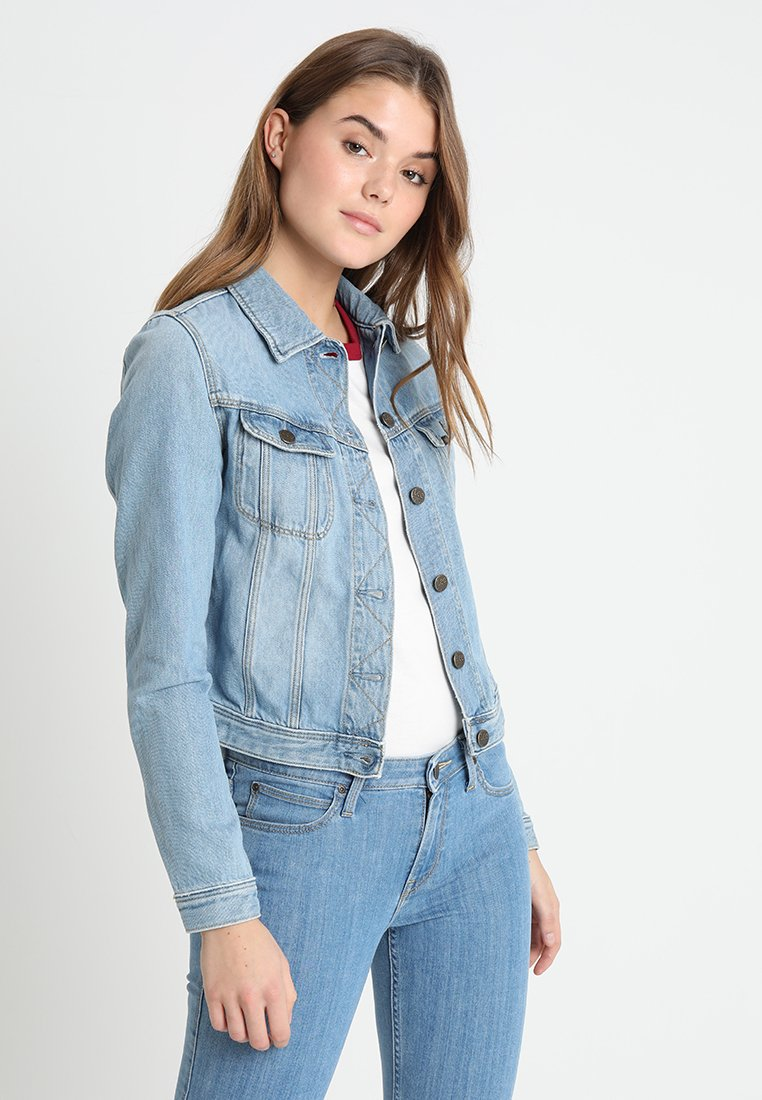 Lee - RIDER - Denim jacket - light blue