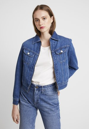ZIP CROPPED RIDER - Giacca di jeans - belleville